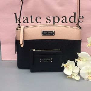 Kate Spade Jeanne Leather Crossbod Bag&Card holder